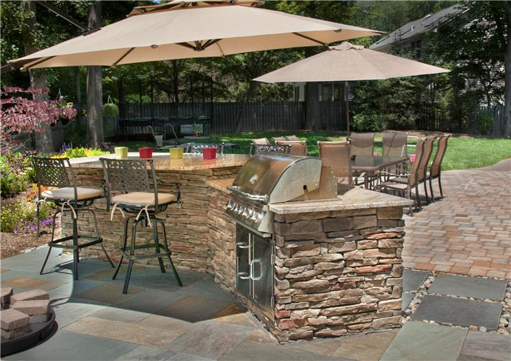 Patio, Outdoor Kitchen