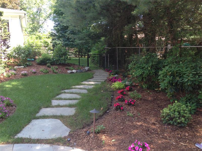 Retaining Wall, Steps, Walkway, Landscape Lighting, Planting Enhancements
