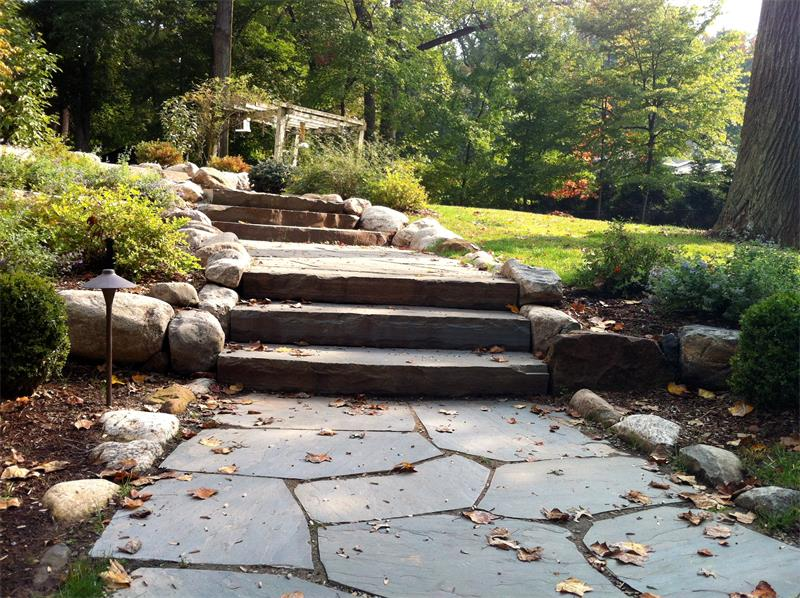 Retaining Wall, Steps, Walkway, Planting Enhancements