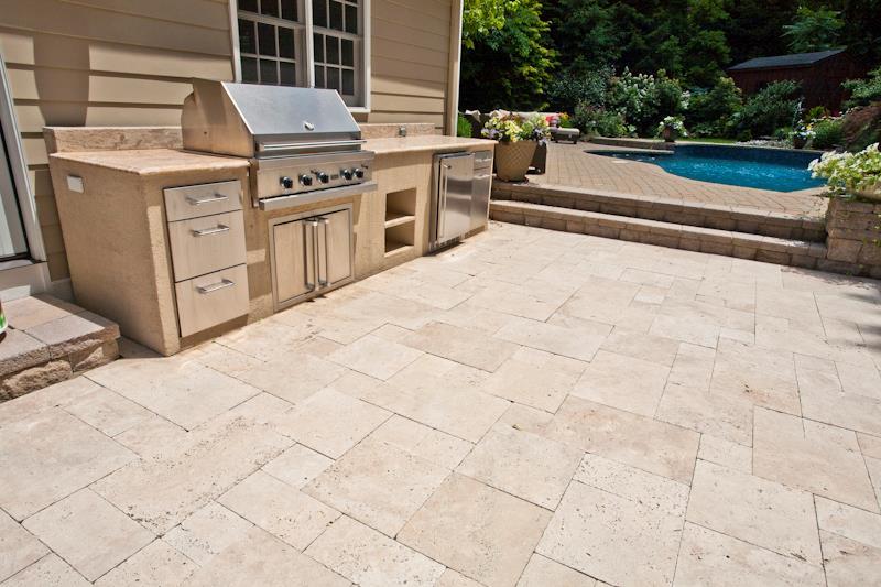 Patio, Retaining Wall, Steps, Walkway, Outdoor Kitchen